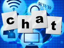 Chatting Chat Represents Telephone Typing And Communicate Royalty Free Stock Photos