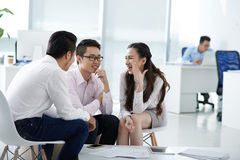 Chatting colleagues Stock Image