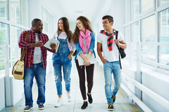 Chatting in college Royalty Free Stock Photo