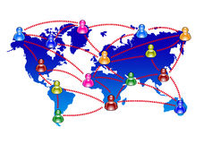 Chatting and communication. Illustration colored icons Royalty Free Stock Photo