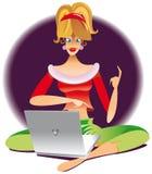 Chatting girl Stock Photos