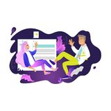 Chatting girl and boy - young woman and man fly in weightlessness surrounded by chat elements. Chatting girl and boy - young woman and man fly in weightlessness Royalty Free Stock Photos