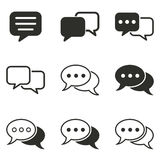 Chatting icon set. Chatting vector icons set. Black illustration isolated on white background for graphic and web design royalty free illustration