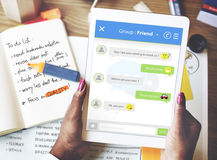 Chatting Online Messaging Forum Friends Concept Stock Image