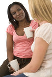 Chatting Over Drinks Royalty Free Stock Image