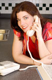 Chatting On The Phone Royalty Free Stock Photography