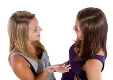 Chatting teenagers Royalty Free Stock Photo