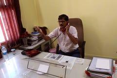 Chatting on telephone Stock Image