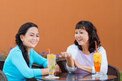 Chatting women Royalty Free Stock Photo
