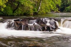 Chattooga lös och scenisk flod Fotografering för Bildbyråer
