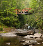 Chattooga rusy iron bridge Royalty Free Stock Photography