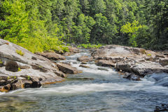Chattooga Wild and Scenic River, GA/SC. Shoals near Bull Sluice rapid, on the Chattooga river. Popular with whitewater boaters. Along the GA, SC border royalty free stock images