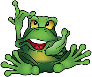 Chatty Green Frog Stock Photo