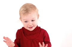 Chatty little girl Stock Images