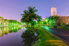 Chatuchak park at night stock images