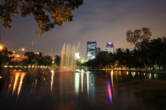Chatuchak park and TMB Head office building Stock Photos