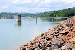 Chatuge dam Royalty Free Stock Image