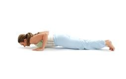 Chaturanga dandasana four-limb Stock Photo