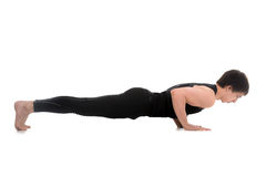 Chaturanga dandasana, four-limbed staff yoga pose Stock Photography
