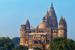 Chaturbhuj Temple at morning. Orchha. Royalty Free Stock Photo