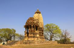 Chaturbhuja temple, southern group of temples of Khajuraho,India Stock Images