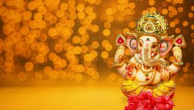 Chaturthi del festival del ganesh del ídolo de Lord Ganesha imagenes de archivo