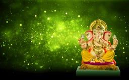 Chaturthi del festival del ganesh del ídolo de Lord Ganesha fotos de archivo