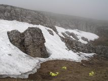chatyr dag κορυφογραμμή Ουκρανί&alp Στοκ Εικόνες
