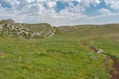 Chatyr-Dah mountainous massif on a Crimean peninsula Royalty Free Stock Photo