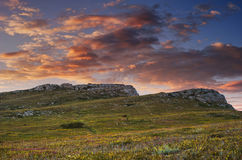 Chatyrdag mountain sunset in Crimea Stock Images