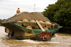 Chau Doc floating market,Vietnam Stock Photography