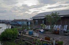 Chau Doc som svävar village-2 Royaltyfri Foto