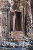 Chau say tevoda. Bas-reliefs of devatas of the prasat of the temple of chau say tevoda in siam reap, cambodia Stock Photography
