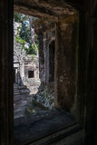 Chau say tevoda. Gopura sight from the interior of the prasat of the temple chau say tevoda in siam reap, cambodia Stock Images