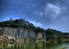 Chau thoi Temple. Is located in Binh Duong, Ho Chi Minh city, Viet nam Royalty Free Stock Images
