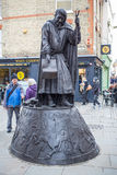 Chaucer Statue in Canterbury Royalty Free Stock Photography