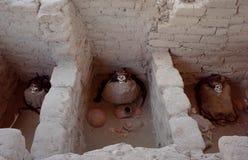 Chauchilla公墓的三个妈咪 免版税图库摄影