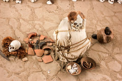 Chauchilla ancient cemetery in Peru,Baby Mummy Royalty Free Stock Image