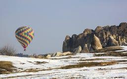 chaud coloré de ballon d'air Images libres de droits