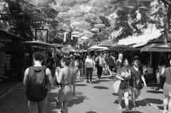 Chaud et agité au marché de Chatuchak NON 5 photo stock