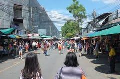 Chaud et agité au marché de Chatuchak NON 8 photo stock