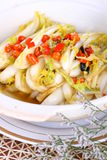 chaud frit par nourriture délicieuse chinoise de paraboloïde de Ca images libres de droits
