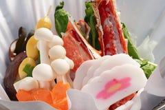 Chaud-pot de fruits de mer Photos stock