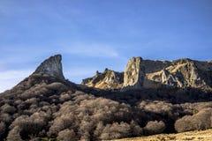 从Chaudefour谷的山 图库摄影