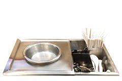 Chaudière de cuillère à créatif pour la conception et l'isolat de décoration photos stock