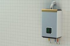 Chaudière de gaz à la maison, chauffe-eau illustration stock