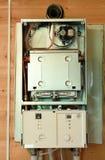 Chaudière de gaz sous la réparation Image libre de droits