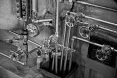 Chaudière et soupapes de navire à vapeur Images stock