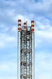 Chaudière-maison de gaz de pipes Images stock