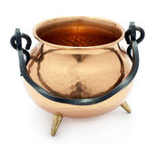 Chaudron de cuivre Image stock